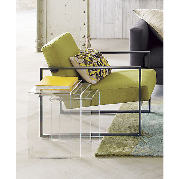 Peekaboo Clear Coffee Table: Interior Design Ideas For A Clutter-Free Home